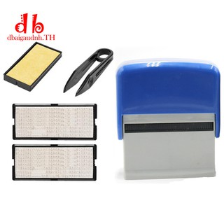 Review Ready Stock Self Inking Stamp Set Custom Personalised DIY with Tweezers Kit Blue High Quality DBT