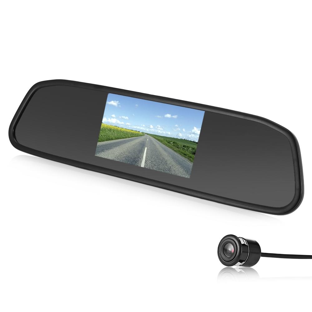 "HD Digital 4.3/"" TFT-LCD Car Mirror Monitor For Rear View Reverse Backup Camera"
