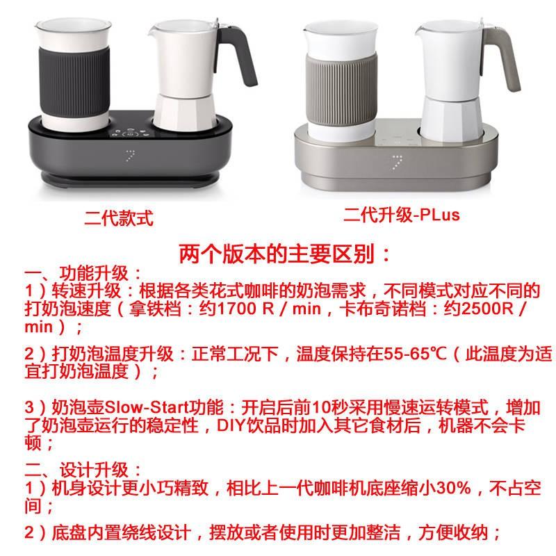 พลังที่เจ็ด เครื่องทำกาแฟแฟนซีอัตโนมัติ 7 เครื่องตีฟองนมที่บ้าน All-in-one Moka Pot เครื่องตีฟองนมไฟฟ้าอิตาเลี่ยน