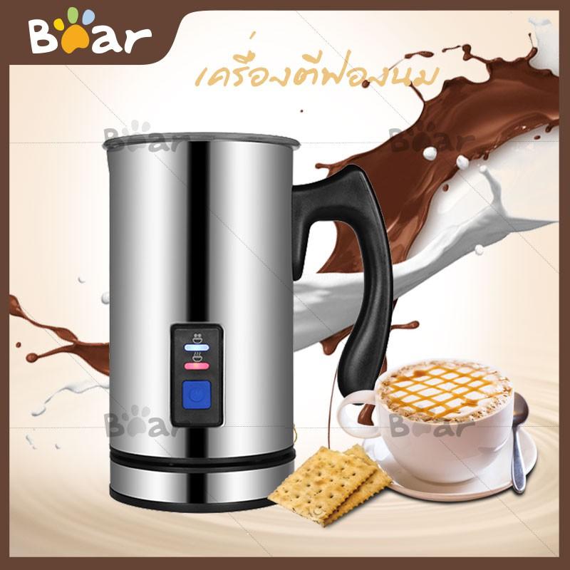 □Bear เครื่องตีฟองนมอัตโนมัติ  เครื่องตีฟองนม ให้ฟูเนียนสำหรับผสมทำกาแฟ ความจุสำหรับทำฟองนมได้ประมาณ 115 ml ถ้าอุ่นร้อ