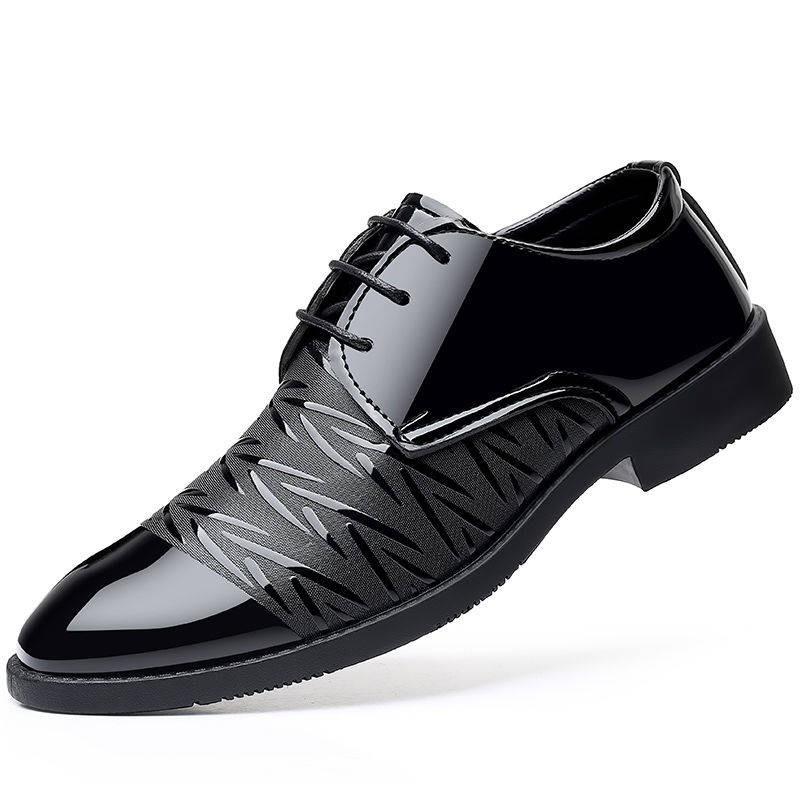 รองเท้าคัชชูผู้ชาย ✱รองเท้าผู้ชายรองเท้าผู้ชาย 2020 ฤดูใบไม้ผลิธุรกิจเยาวชนใหม่อังกฤษสีดำระบายอากาศสบาย ๆ รองเท้ารองเท้า