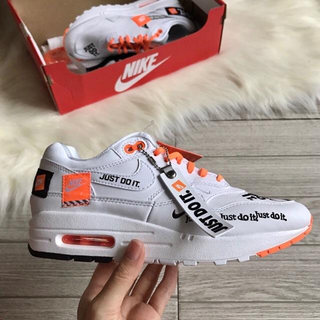 รองเท้า Nike Air max 1 Just do it สีขาว