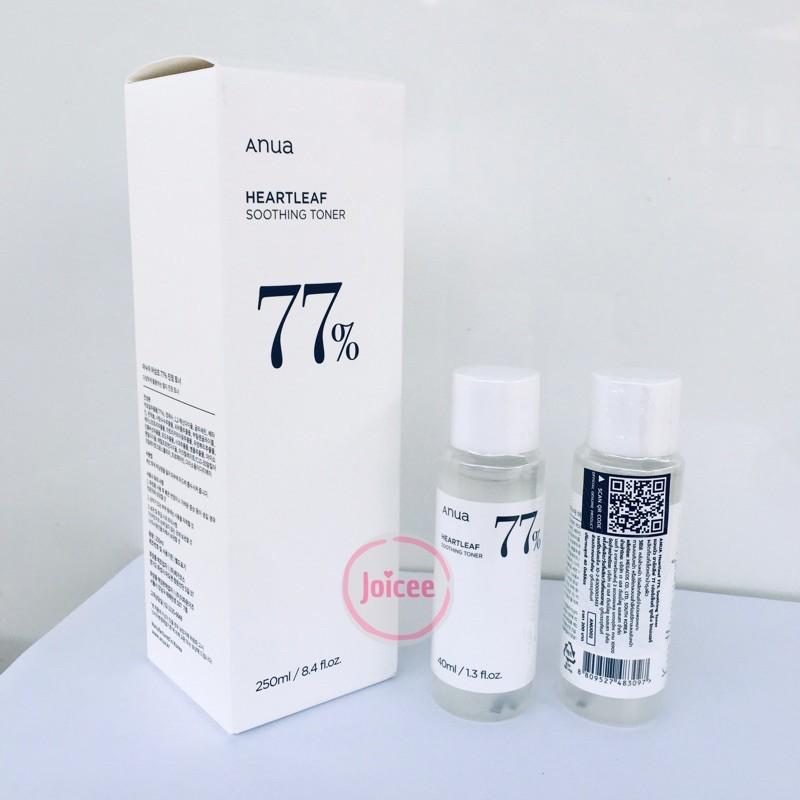 [แท้💯%] Anua Heartleaf 77% Soothing Toner 250mL / 40mL โทนเนอร์พี่จุน