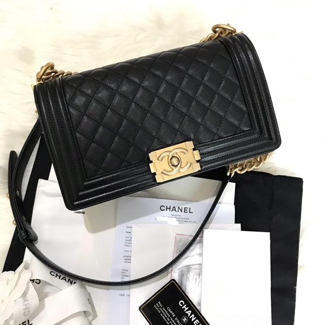 Chanel boy 10 holo28 caviar fullset 📌ขายแท้เท่านั้น