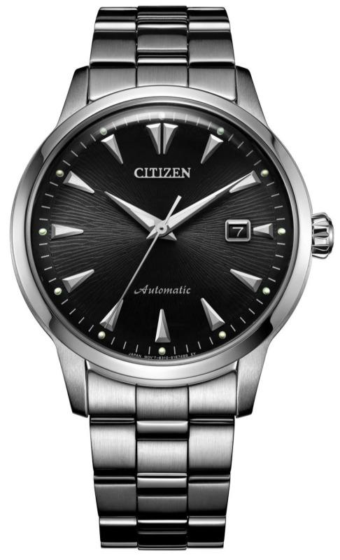 นาฬิกาข้อมือ ผู้ชาย CITIZEN KUROSHIO '64 Automatic รุ่น NK0001-84E หน้าปัดสีดำ ตัวเรือน/สายนาฬิกา เหล็กStainless Steel สีเงิน ขนาดตัวเรือน 41 มม.