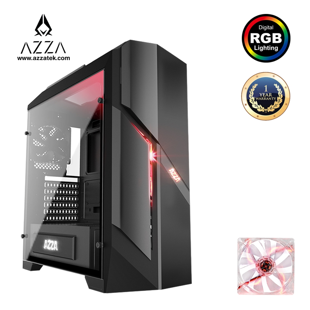 AZZA ATX Mid Tower Case Photios 250 CSAZ-250 - Black