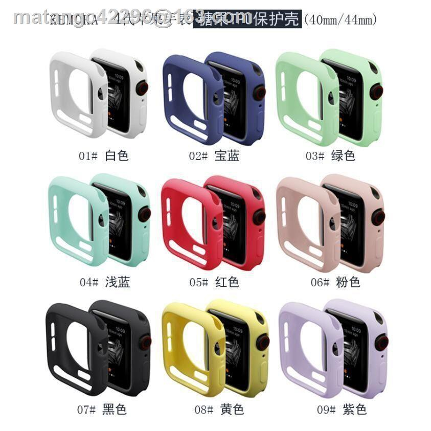 แฟชั่น ราคาถูก ▣❒Apple Watch Case Series5 Cover 3 Applewatch4 Candy Silicone Full Soft