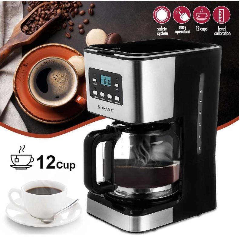 Sokany121E เครื่องชงกาแฟบ้านอัตโนมัติอเมริกันเครื่องชงกาแฟแบบหยดสำหรับการทำชา