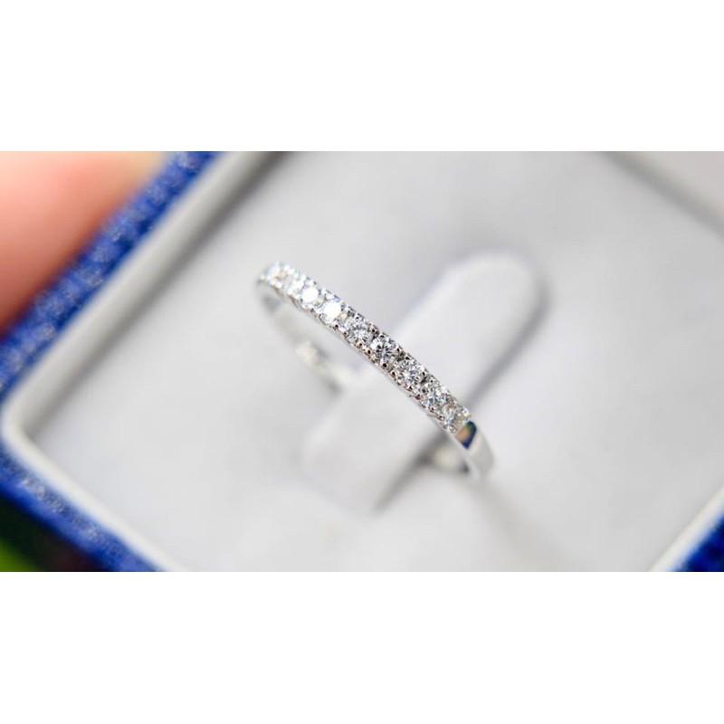 แหวนแถวทองคำ 9 K เพชรเบลเยี่ยมแท้ 100% ราคาผู้ผลิต