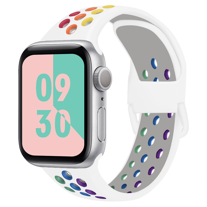 Soft Silicone Band for Apple Watch Series 1 2 3 42mm 38mm Rubber Strap for iWatch 4/5 40MMM 44MM