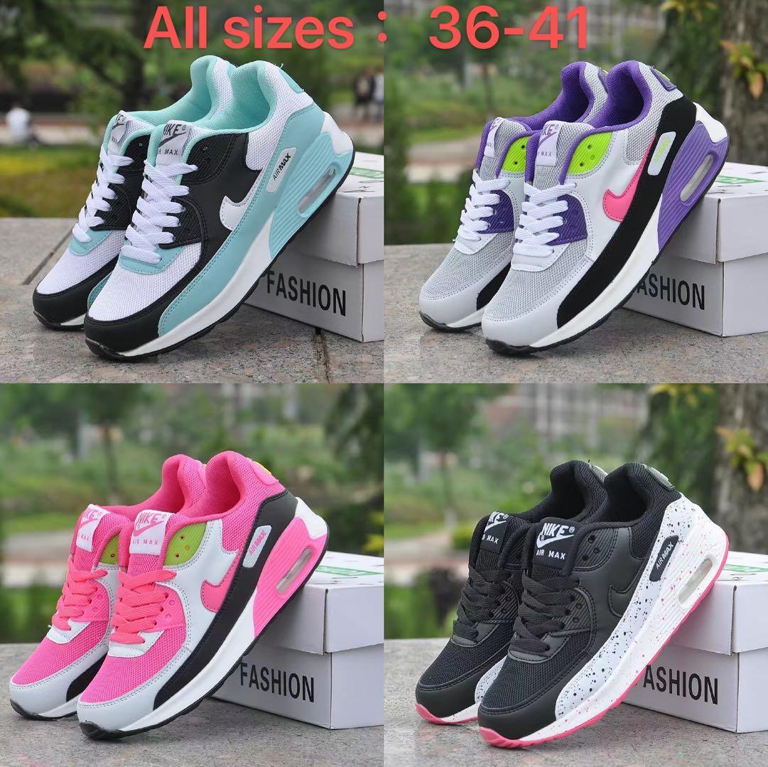 Nike AIR MAX90รองเท้าวิ่งสำหรับผู้หญิงเพิ่มความสูง