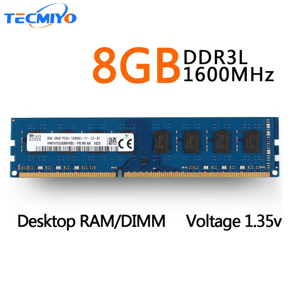 For Hynix 8GB 16GB DDR3 2RX8 PC3L-12800E 1600MHz 1.35V ECC Unbuffered Memory RAM