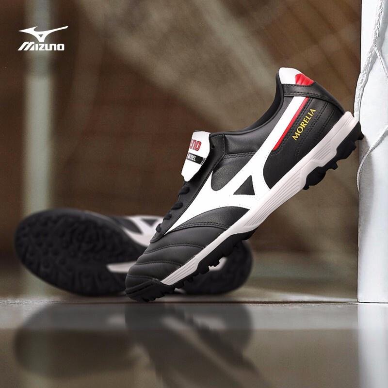 MIZUNO/Mizunoรองเท้าฟุตบอลMORELIA II PRO ASเล็บแตกผิวจิงโจ้ระดับไฮเอนด์TFรองเท้าฟุตบอลชาย TRtS