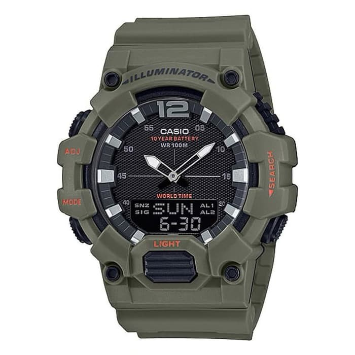 Casio Hdc-700-3a2vdf - Hdc700 นาฬิกาข้อมือดิจิตอล