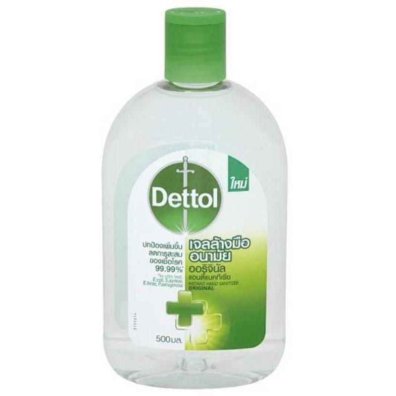 【อุปกรณ์ทำความสะอาด】 【อุปกรณ์】 Dettol เดทตอล เจลล้างมือ อนามัย ออริจินัล ขนาด500มลแพ็ค1ขวด
