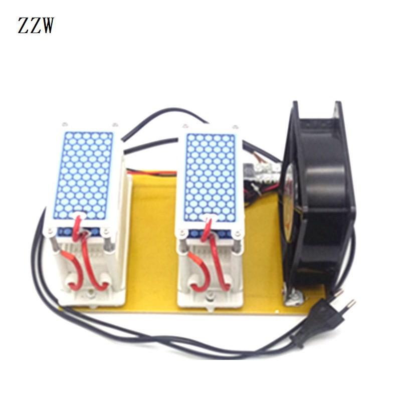 เครื่องผลิตโอโซน 220V 20G  H เครื่องฟอกอากาศโอโซนสร้างอุปกรณ์กำจัดกลิ่น - ปลั๊ก EU