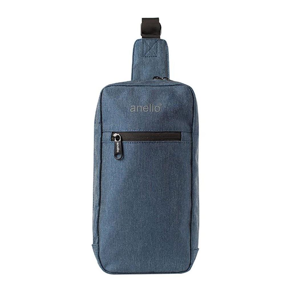 กระเป๋าคาดอก Koten Denim Crossbody OS-N032 สีกรมท่า กระเป๋า ผู้หญิง กระเป๋าสะพายข้าง คาดเอว/คาดอกผ้าเดนิม anello® รุ่