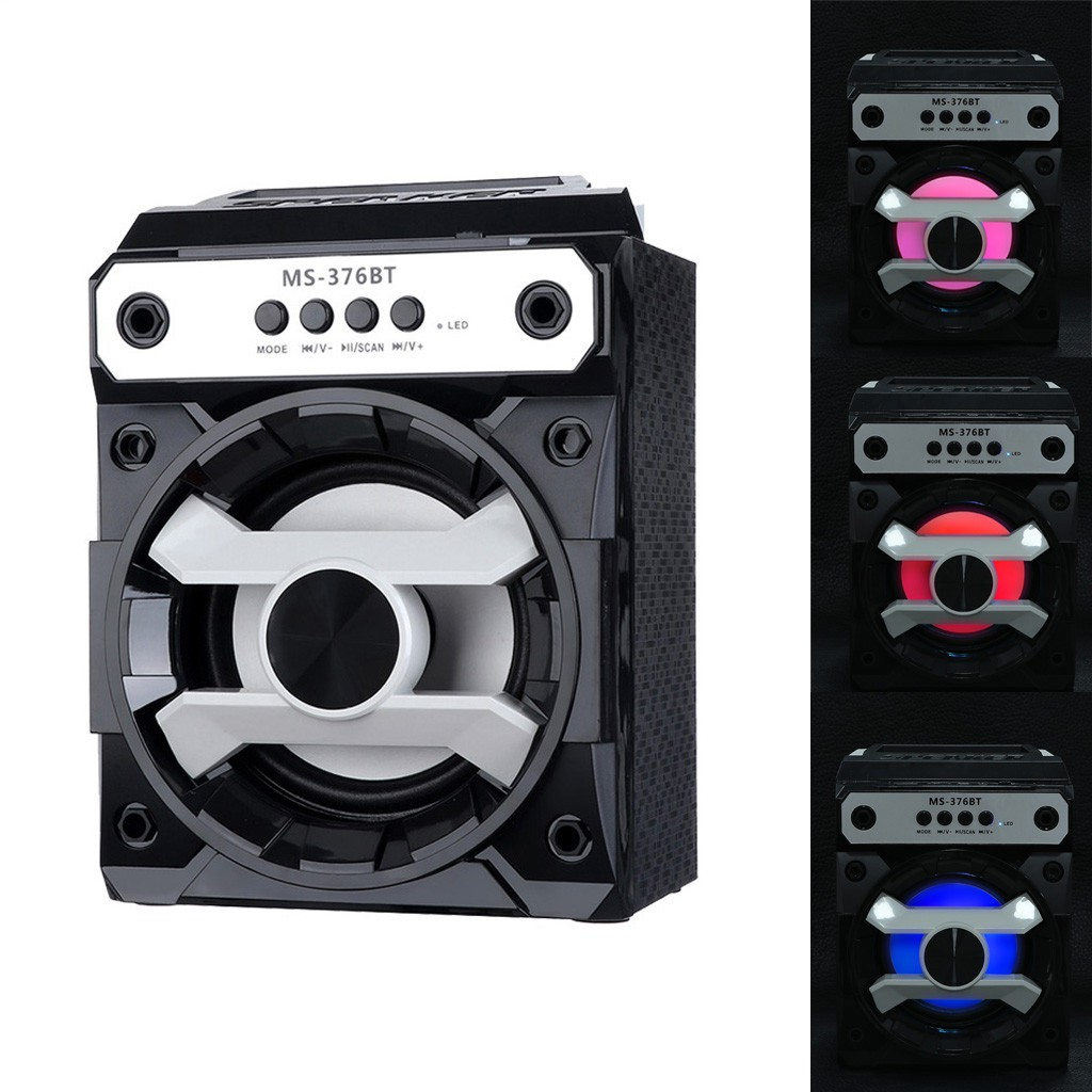Portable Bluetooth Wireless Speaker Bass Radio with USB//TF//AUX//FM Audio