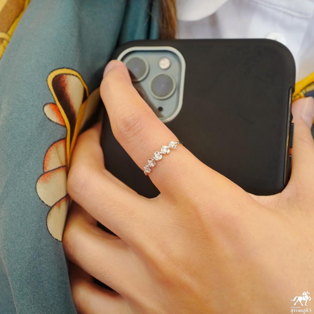 แหวนเพชรแท้ทองคำแท้ No.1 เพชรเบลเยี่ยมคัท ทองคำแท้ 9k (37.5%) ในราคาเปิดตัว ✅ ขายได้ มีใบรับประกัน