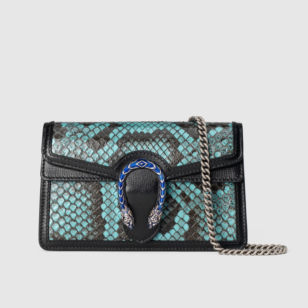 Gucci / New / Dionysus series python skin super mini handbag / ladies shoulder bag / ของแท้ 100% / 16.5CM