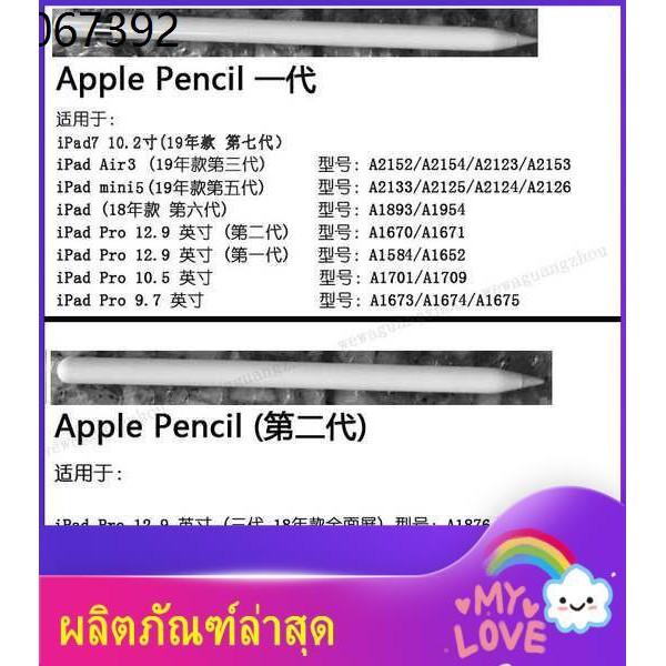 ไอแพด ปากกาทัชสกรีน ปากกาไอแพ apple pencil applepencil ❅Apple ดินสอ รุ่นที่ 2 ปากกา Apple ปากกาเขียนด้วยลายมือ 2020 iPad