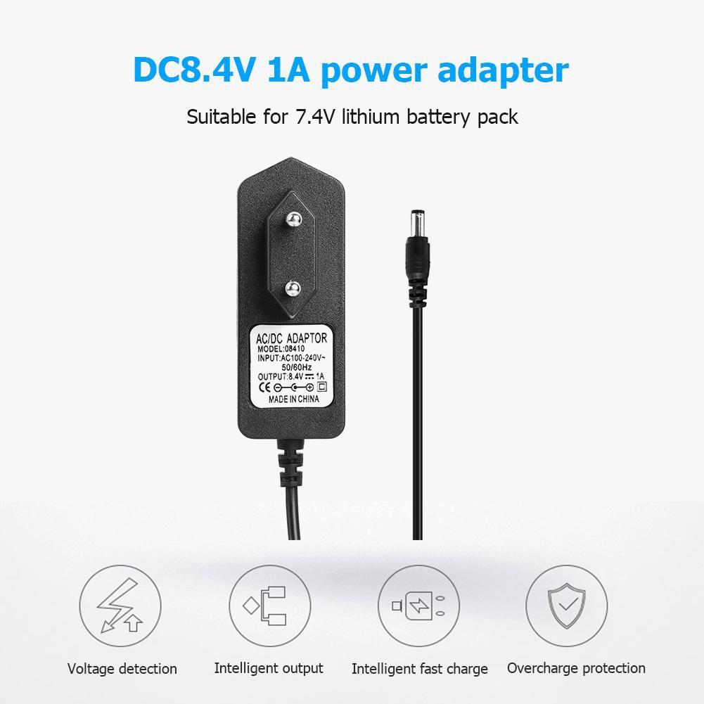4.2V 1A EU Plug AC//DC Charger Adapter For 1S 3.7V 18650 Lithium Li-ion Battery