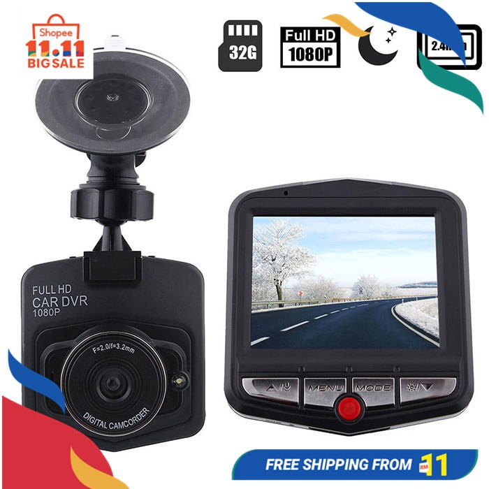 "1080P 1.5/"" HD LCD Car Dash Camera Video DVR Cam Recorder Night Vision G-sensor Y"