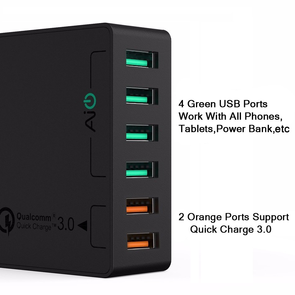 Xltrade Aukey Pa T14 Usb Charger Quick Charge 30 3 Ports U42 Amp Wall 2 Port Aipower Phone Smart Shopee Thailand