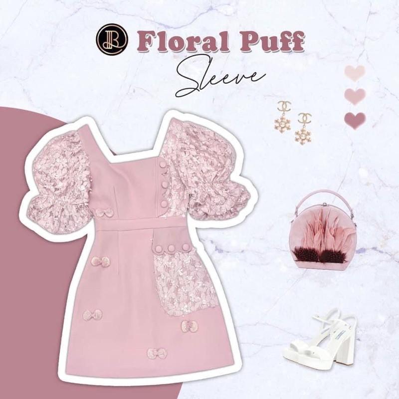 BLT Floral Puff เดรสชมพู สุดน่ารัก 💖M💖
