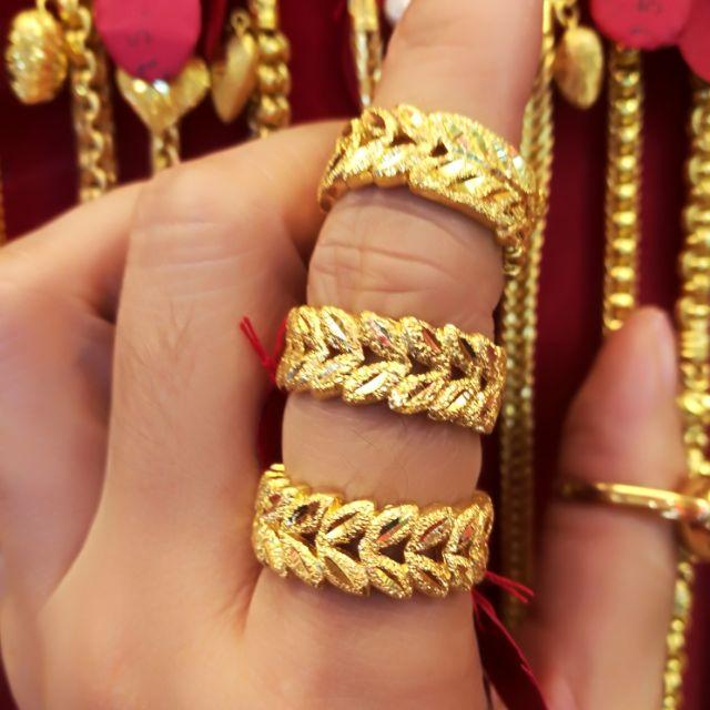  แหวนทองแท้ 96.5% ใบมะกอกสัญญาลักษ์ของชัยชนะ น้ำหนัก 2 สลึง ราคา 15,350 บาท ไซ้ร 52,54,55