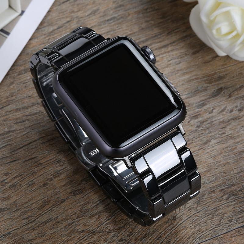 สาย apple watch ใช้ได้ครับapplewatchสายรัดiwatch5S6นาฬิกา AppleSE2/3/4สแตนเลสสตีล44เซรามิค42โซ่40mm38แบรนด์ไทด์series Sช