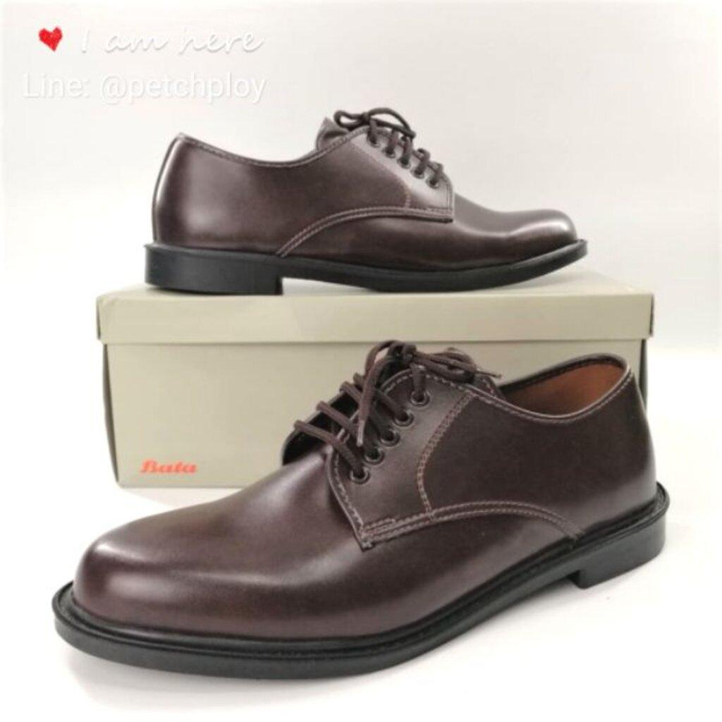 Bata รองเท้าคัชชูหนัง สีน้ำตาล แบบผูกเชือก บาจาของแท้ Size 2-12 (35-47) รุ่น 821-4781 821-4782 รองเท้าทางการ รองเท้าท...