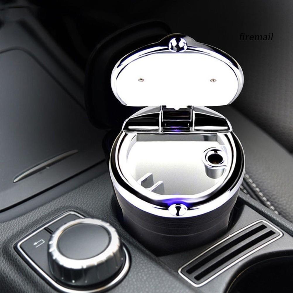 Mini Portable Car Auto Travel LED Light Ashtray Cigarette Ash Storage Holder Cup