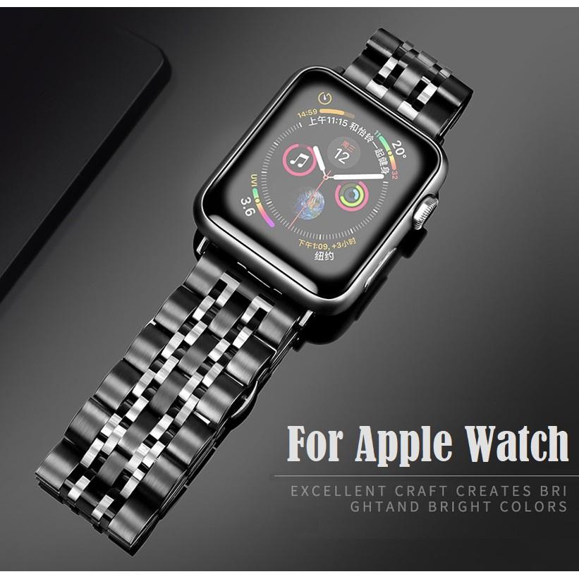 สาย applewatch สายนาฬิกา applewatch Luxury สายนาฬิกา Apple Watch Straps เหล็กกล้าไร้สนิม สาย Applewatch Series 6 5 4 3 2
