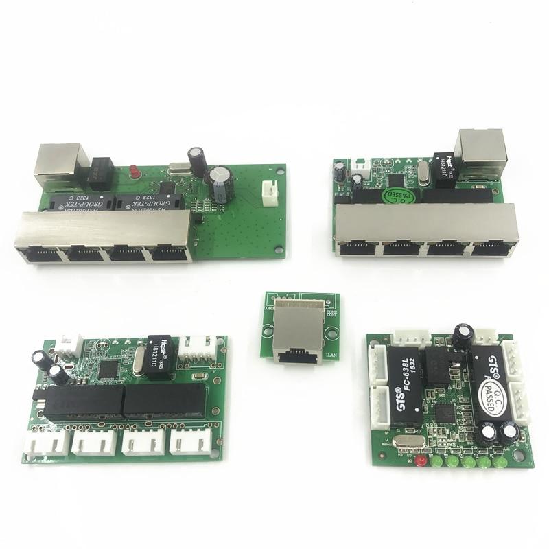 5 port ethernet switch  board for ethernet switch module 10/100mbps 5 port PCBA board OEM Motherboard  asic miner lan hu