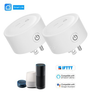 Review Mini Smart WiFi Socket Remote Control by Smart Phone from Anywhere Timing Function, Voice Control for Amazon Alexa and f