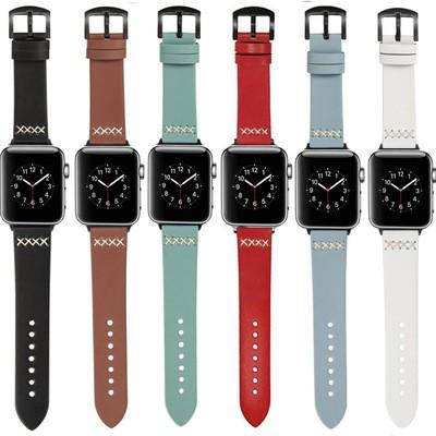 สายนาฬิกาข้อมือสายหนังสําหรับ Apple Watch Band 44 มม. 40 มม. 38 มม. 42 มม. Iwatch สําหรับ Applewatch Series 5 4 3 Se 6