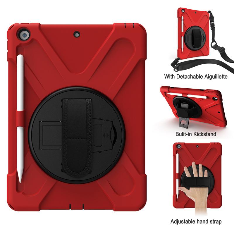 ღღღღHybrid case for iPad 8 10.2 inch 2020 anti drop cover iPad Gen 7 2019 rotary stand with apple pencil slot holder han