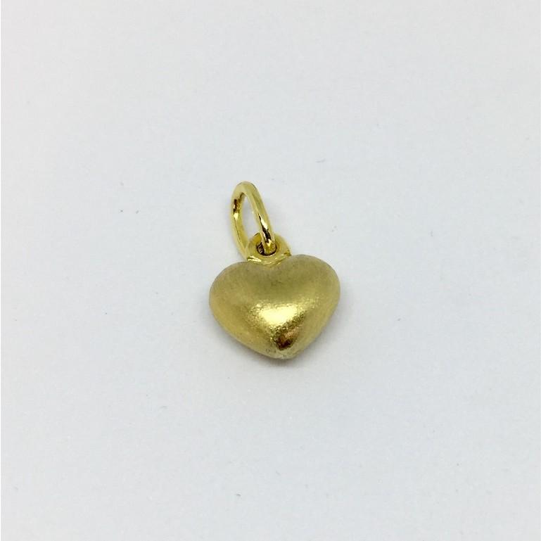จี้ทองหัวใจ 18K  (ทองแท้มาตรฐาน 75.0%) ผิวด้าน หนัก 1.22 กรัม (ราคาไม่รวมสร้อย)