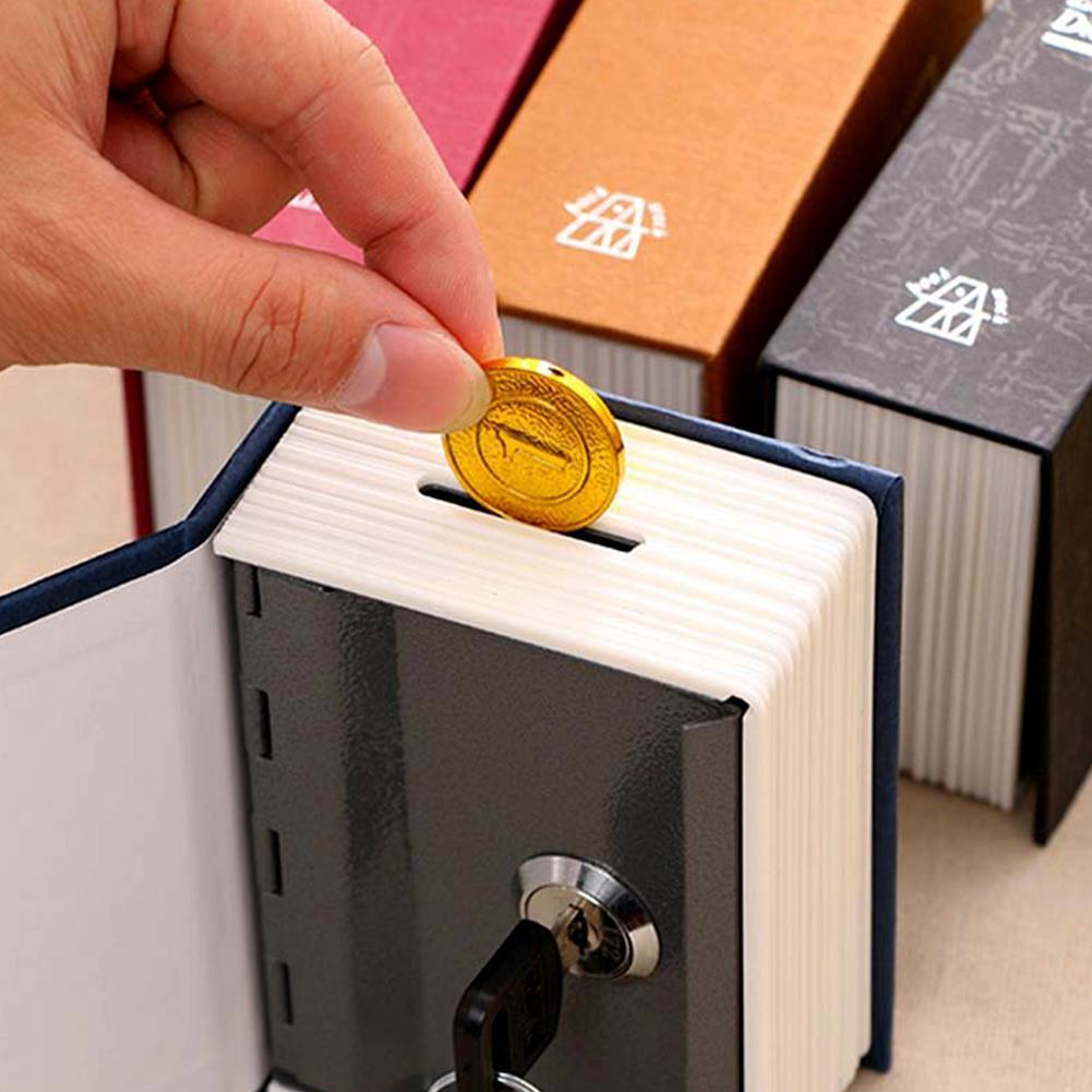 Dictionary Hidden Book Safe Lock Secret Security Money Hollow Book Wall Safe RQos