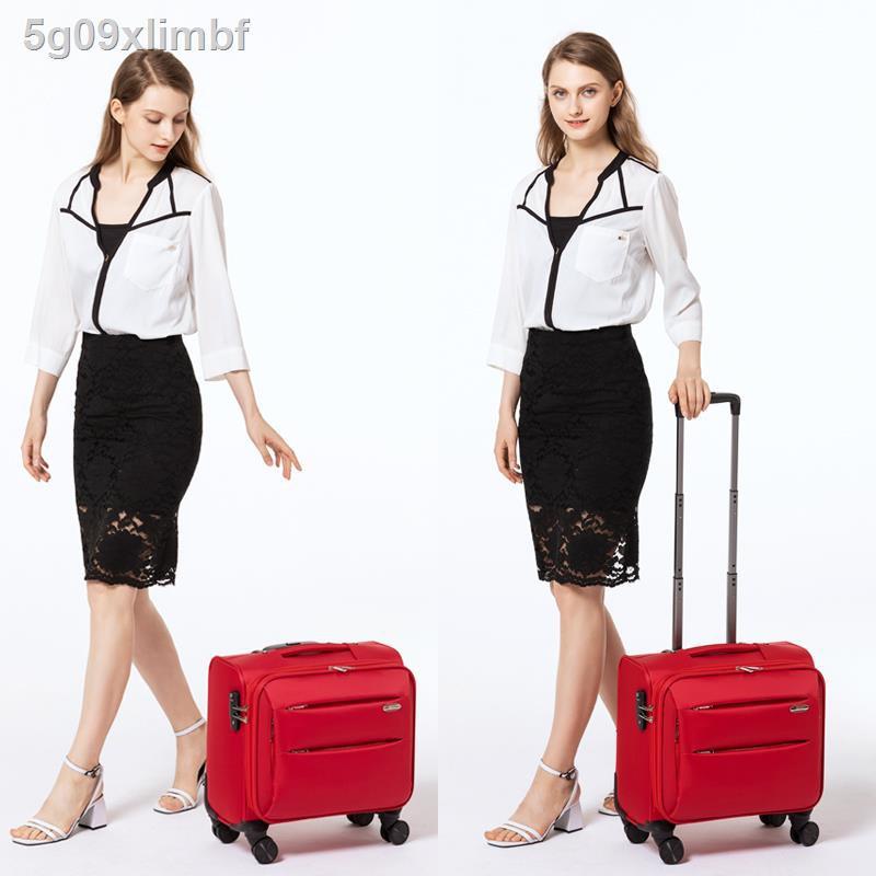 สัมภาระ☢☈◕กระเป๋าเดินทางใบเล็ก กล่องรหัสผ่านหญิง กระเป๋าเดินทางขนาดเล็กน้ำหนักเบา กระเป๋าเดินทางขนาดเล็กแบบอ็อกฟอร์ด ผ้า