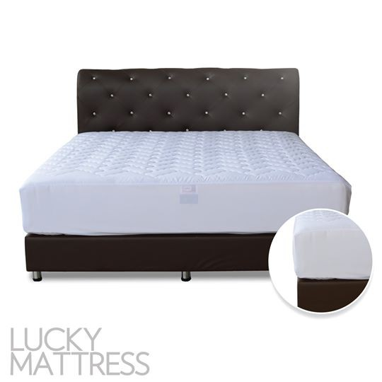 LUCKY ผ้ารองกันเปื้อนที่นอน แบบรัดมุม