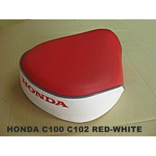 HONDA SUPERCUB C100 C102 CM91 C50 C65 C70 SOLO SEAT RED-WHITE // NEW #เบาะรถ