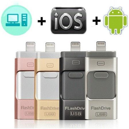 USB Flash Drive For iPhone X/8/7/7 Plus/6/6s/5/SE/ipad OTG Pen DriveMemory Stick 16GB 32GB 64GB 128GB (ส่งฟรี13-20วัน)