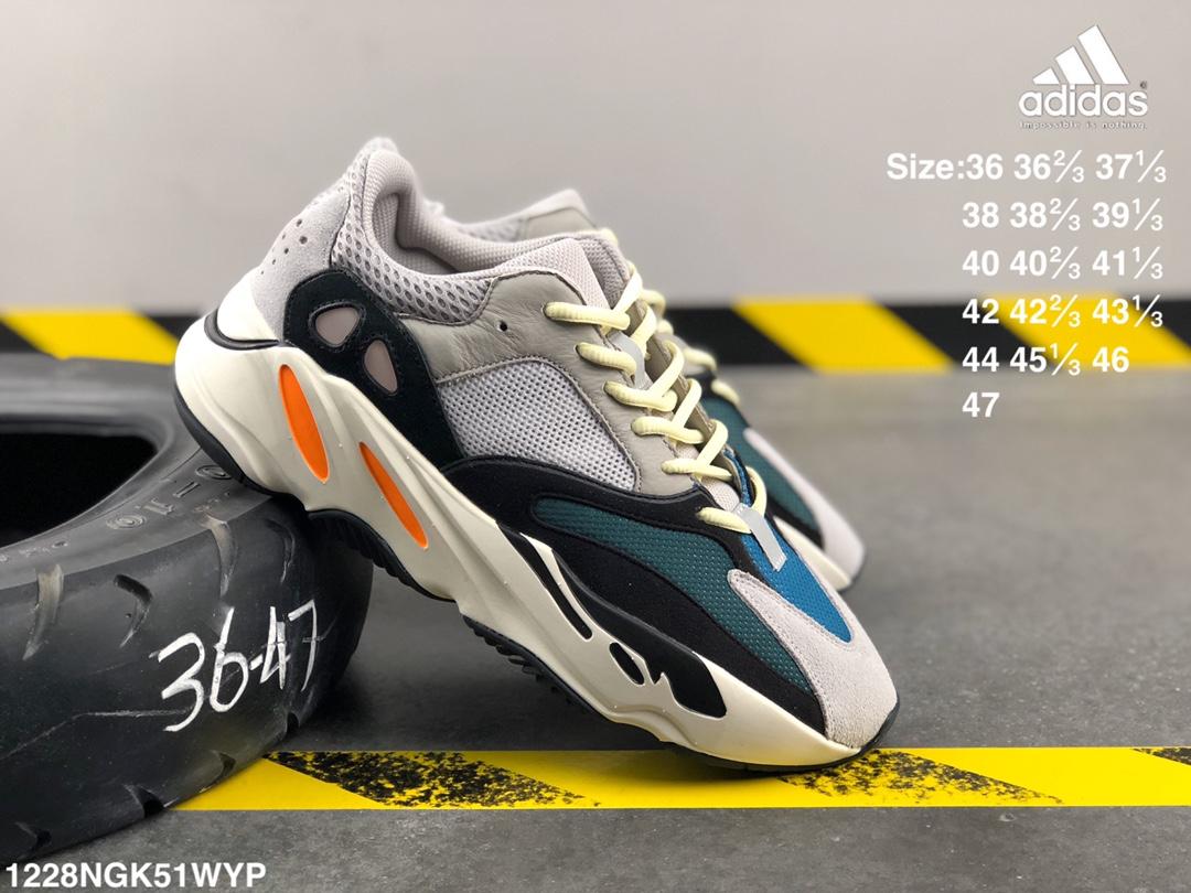 """อาดิดาส Adidas_ YEEZY GT Yeezy 700 """"Static"""" Kanye casual shoes รองเท้า วิ่ง ของ แท้ Outdoor Shoesอย่างดี"""