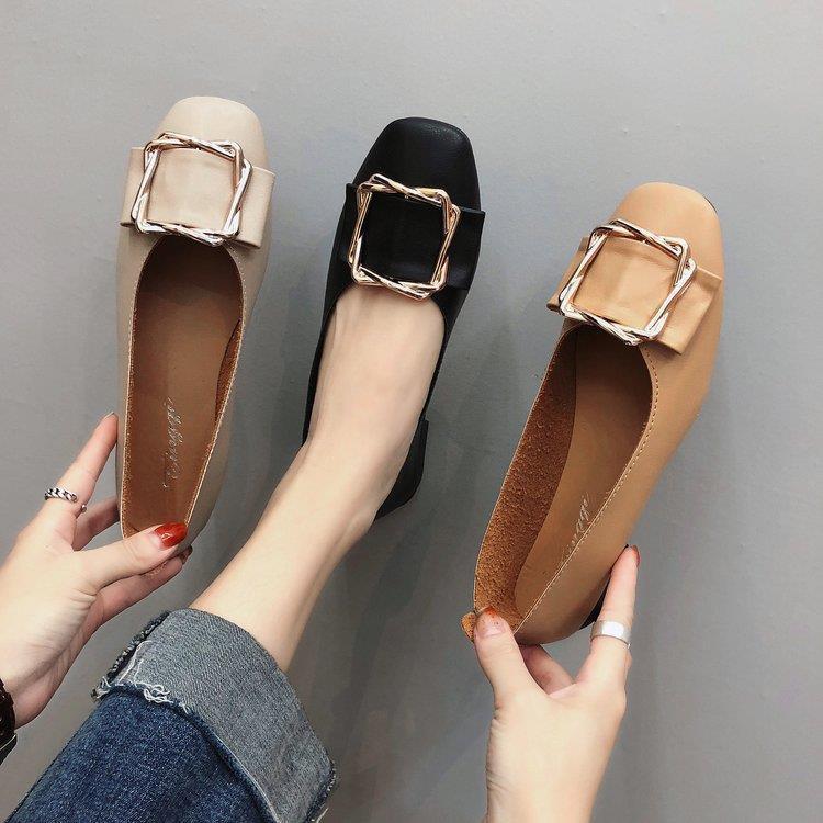 รองเท้าผู้หญิง🌻รองเท้าคัชชู หัวแหลม🌻รองเท้าผู้หญิง นิ่มที่สุด รองเท้า เกาหลี งานหนังนิ่มสุด รองเท้าเดียวผู้หญิงยางนิ่ม