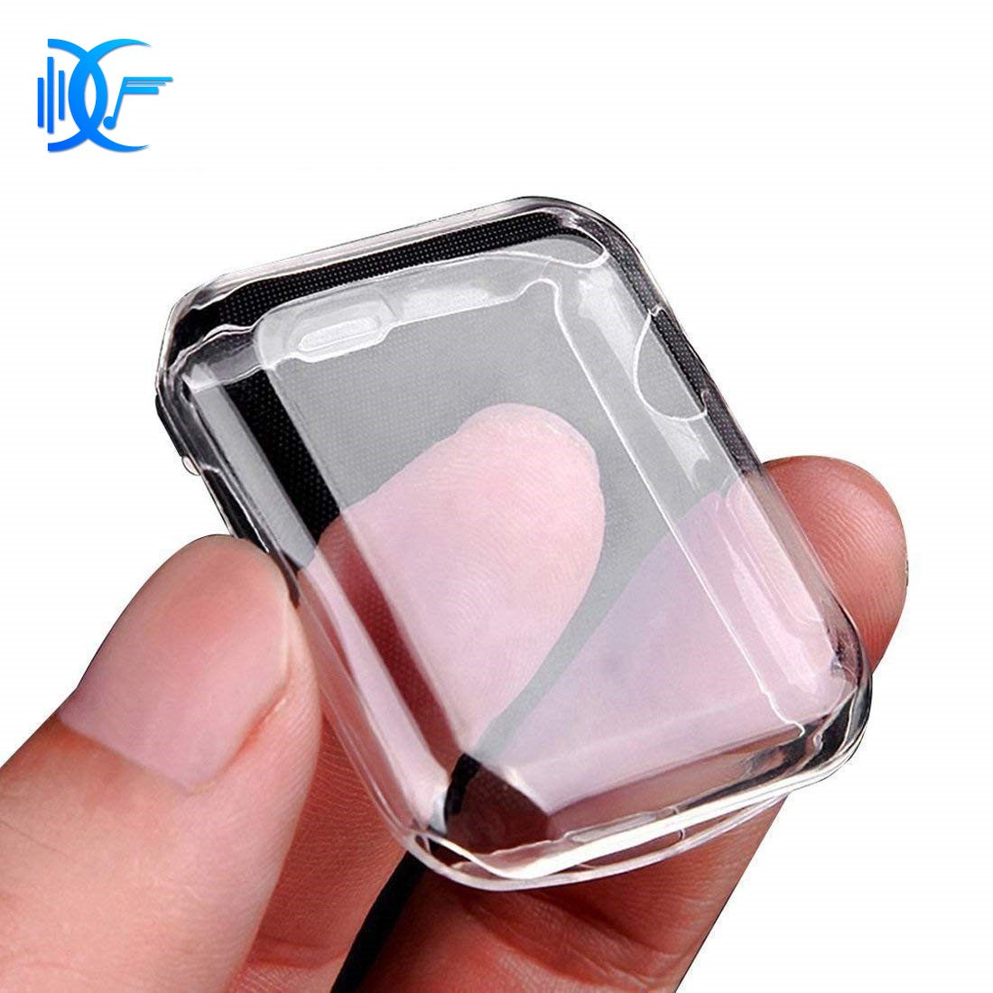 [D&F]Protective Case TPU Clear Ultra-Thin for Apple Watch Series 1 (42mm)