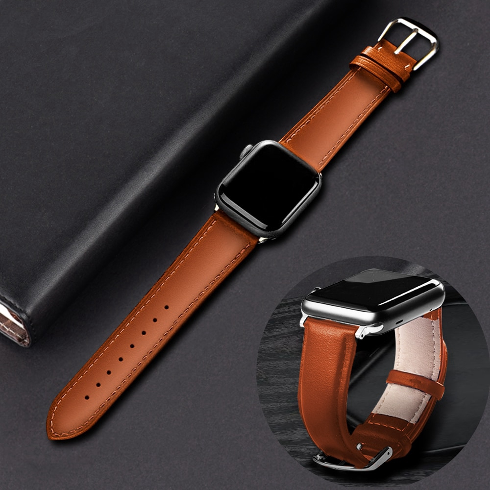 Apple Watch Series 5 4 3 2 1 Genuine Leather Watch Band Strap iWatch 38/42/40/44mm