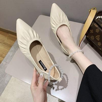 รองเท้าคัชชูหัวแหลมรองเท้านุ่มสบายพื้นนุ่มรุ่นใหม่ของผู้หญิง