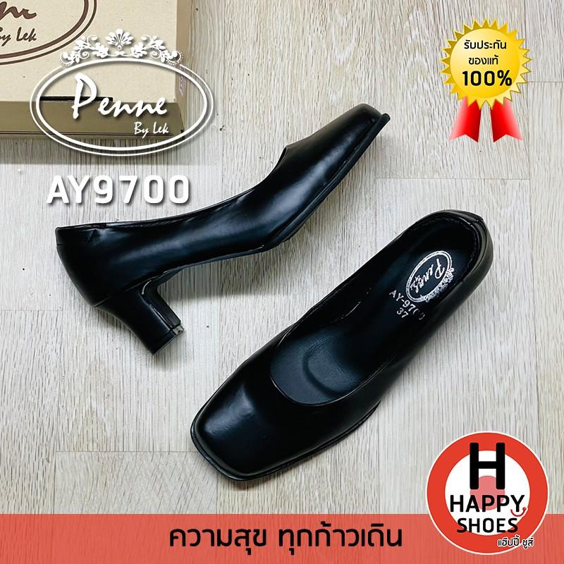 รองเท้าคัชชูหญิง (นักศึกษา) Penne รุ่น AY9700 ส้นสูง 2 นิ้ว สวม ทน สวมใสสบายเท้า